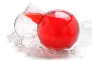 frascos redondos de laboratório