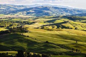 paisagem toscana perto de pienza foto