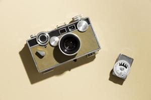 composição de câmera fotográfica vintage foto