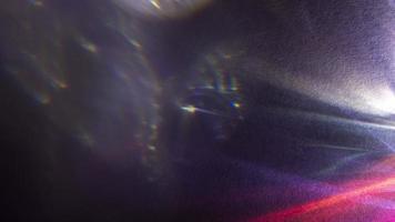 efeito de prisma dinâmico de luzes brilhantes foto