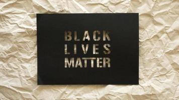 Vidas negras importam sinal de protesto