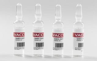 frascos de vacina preventiva contra coronavírus