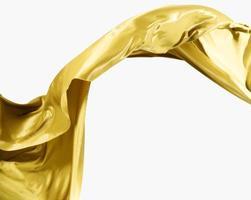 bela seda dourada abstrata com espaço de cópia foto