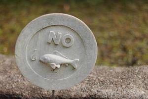 em volta sem placa de pesca foto