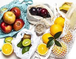 sacos de frutas foto