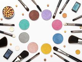 disposição plana de cosméticos foto