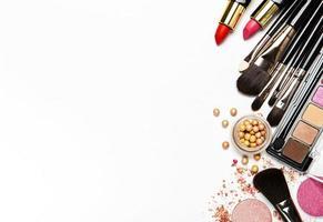 cosméticos definidos com espaço de cópia foto