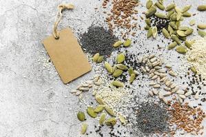 sortimento de sementes foto