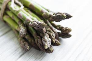 close-up de aspargos foto