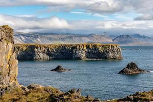 litoral da parte oeste da Islândia foto