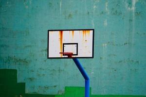 equipamento esportivo de cesta de basquete de rua foto