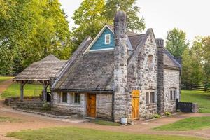 edifício de pedra vintage na mansão belle meade em nashville, tennessee, 2020. foto