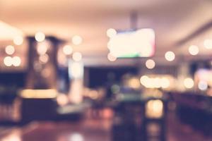 Resumo desfocar o fundo do restaurante - filtro vintage foto