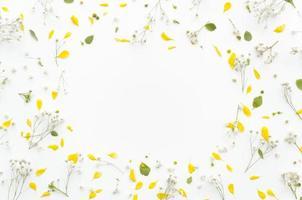 moldura decorativa de flores foto