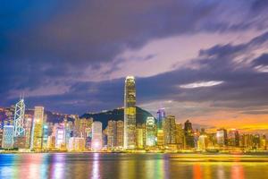 paisagem urbana da cidade de hong kong, china foto