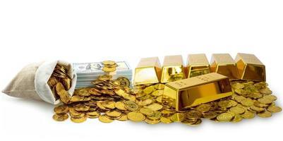 ouro e dinheiro foto