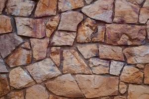 parede de rocha marrom foto