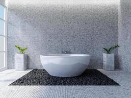 3D design de interiores de banheiro foto