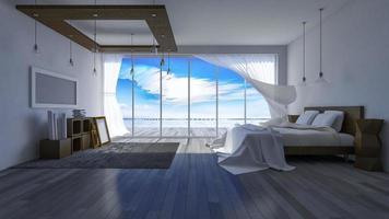 3D sala à beira-mar foto
