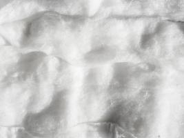 vista de cima arranjo com algodão branco foto