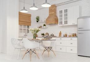 design de interiores de cozinha para nova casa foto