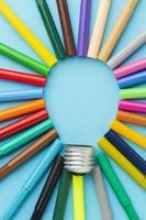 composição de inovação abstrata colorida foto