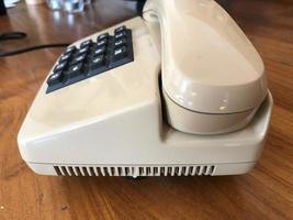 telefone vintage isolado foto