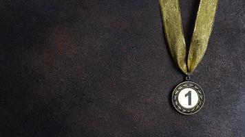 medalha de primeiro lugar foto
