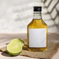 maquete de garrafa de tequila ou mezcal foto