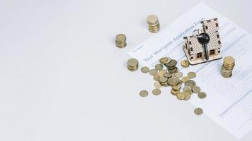 formulário de pedido de chaves de dinheiro. conceito de foto bonita de alta qualidade e resolução