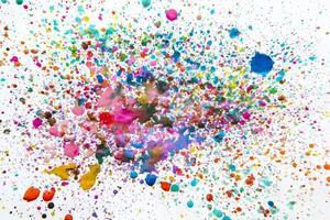 bagunçado gotas aquarela branco. conceito de foto bonita de alta qualidade e resolução