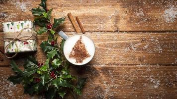xícara de café de vista superior com espaço de cópia. conceito de foto bonita de alta qualidade e resolução