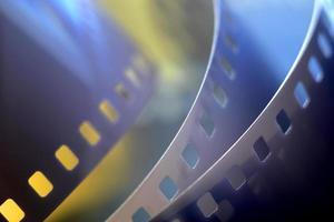 imagem borrada de filme fotográfico de 35 mm foto