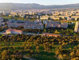 vista aérea do distrito mtskheta-mtianeti foto