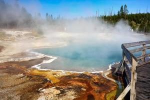 Parque Nacional de Yellowstone, Wyoming 2020 - piscina negra foto