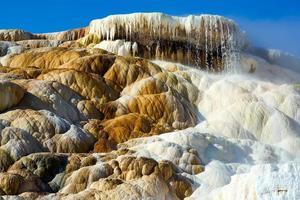 Parque Nacional de Yellowstone, Wyoming 2020 - o polegar do diabo nas gigantescas fontes termais foto