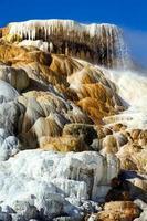 paleta de molas. diabos polegar para as gigantescas fontes termais. Parque nacional Yellowstone. Wyoming. EUA. agosto de 2020 foto