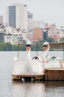 pedalinho na lagoa rodrigo de freitas no rio de janeiro, brasil foto