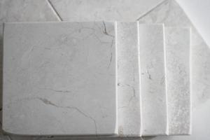 vista superior dos ladrilhos de mármore foto