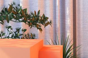 Renderização 3D da plataforma de pedestal de produto limpo foto