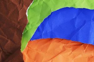 texturas de fundo de folha de papel de cor abstrata foto