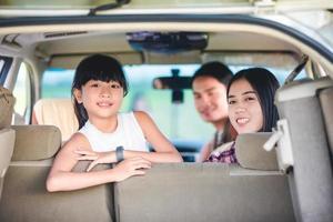família animada para viagem foto