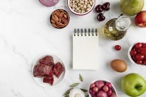 alimentos integrais dieta composição de alimentos fundo foto