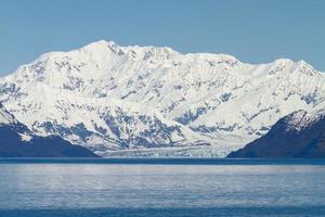 geleira hubbard na baía yakutat, no Alasca foto