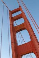 detalhe da ponte golden gate em san francisco califórnia estados unidos foto