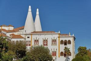 palácio de sintra palácio nacional de sintra em sintra portugal durante um lindo dia de verão foto