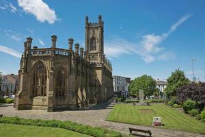 catedral de liverpool, também conhecida como igreja catedral de cristo ou igreja catedral de cristo ressuscitado em st james mount em liverpool reino unido foto