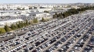 conceito de transporte com vista aérea de carros foto