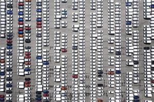 vistas aéreas com fundo de estacionamento foto
