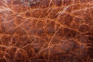 textura de couro marrom foto